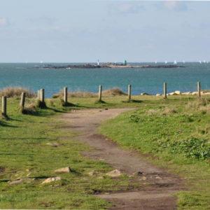 Pointe des saisies de la presqu'île de Gâvres - Le sentier côtier